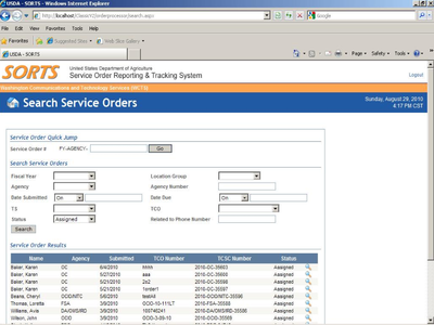 Service Order Tracking System